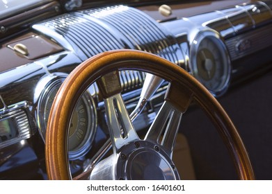 Abstract of a vintage automobile