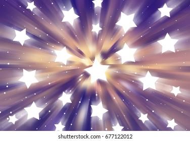 Abstract vintage background. Explosion star. illustration digital.