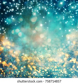 abstract vintage background with texture and glowing stars