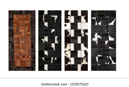 Abstract vintage cow skin backdrop
