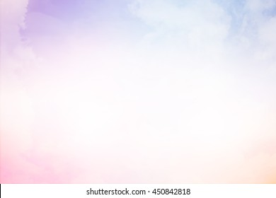 abstract vintage soft cloud and pastel tone color sky background.