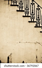 Abstract Vintage Stairs