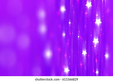 Abstract violet background with bokeh defocused lights and shadow. illustration beautiful.