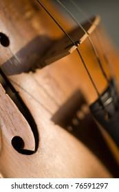 abstract violin shadow close-up