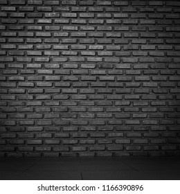 Abstract wall texture background old stucco light dark and aged paint black brick background or wallpaper.