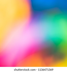 Abstract warm colorful background for happy birtday cards, summer neon lights fun parties, celebrations or childrens watercolor artworks concepts. Square design photo