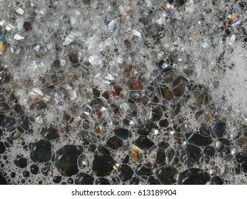 Abstract water bubbles background