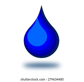 Abstract water drop illustration.