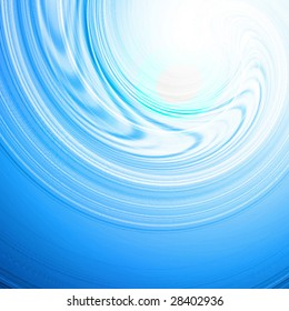Abstract water wave with central light effect in it