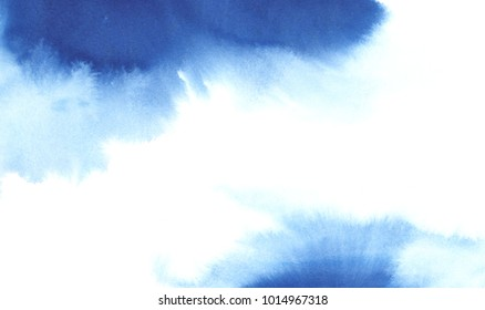 abstract watercolor background, blue paint
