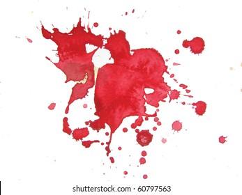 abstract watercolor background splatter design