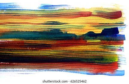 abstract watercolor background stripes design