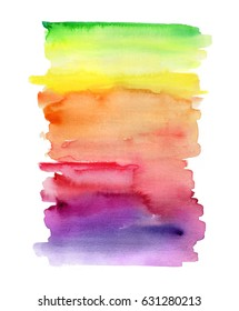 abstract watercolor background, vivid blend, brush strokes, creative illustration, bright rainbow color palette