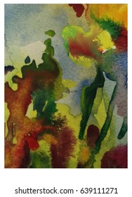 Abstract watercolor backgrounds handmade bright saturated color blur