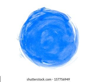 Abstract watercolor circle