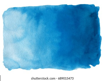 Abstract watercolor hand drawn background. Isolated spot on white paper. Template design.