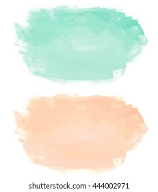 Abstract watercolor hand paint texture, isolated on white background,  Watercolor Wash. Colorful watercolor background. Abstract watercolor art hand paint on white background