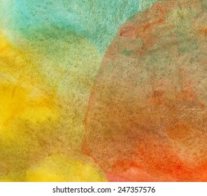Abstract watercolor painted background or texture