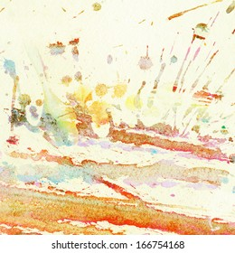 Abstract watercolor, splashes background