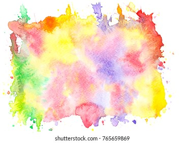 abstract watercolor stains  background.art hand painted splash by drawing