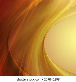 abstract wave orange and yellow