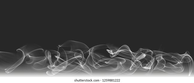 Abstract wave smoky effect curve black and white background