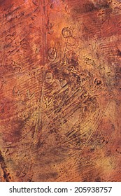 abstract weathered distressed grunge basrelief wall structures, background, backdrop, beautiful detail, vivid colors