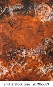 abstract weathered distressed grunge basrelief wall structures, background, backdrop, beautiful detail, vivid rusty orange colors