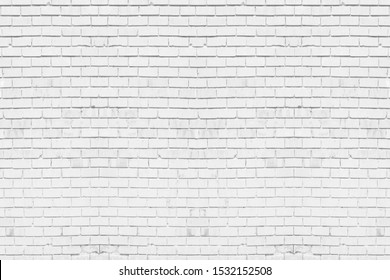 Abstract weathered texture stained old stucco light gray. White brick wall background in rural room. Texture horizontal wallpaper.