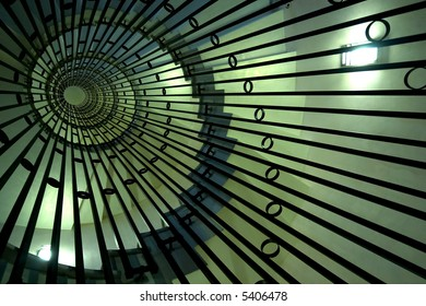 abstract whirled staircase