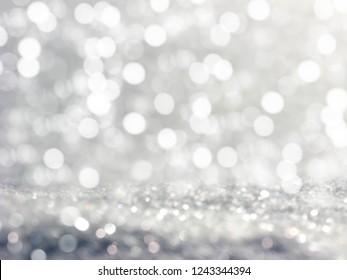 abstract white background colorful blurred christmas light garland snow