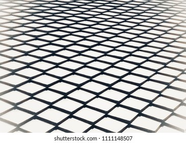 Abstract white and black dimond shape blurred background, geometric,grid pattern.