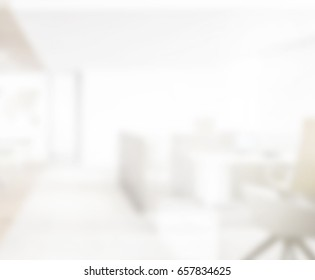 Abstract White Blur Interior Of The Background