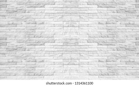 Abstract white brick wall background. Texture background concept. Wall empty template