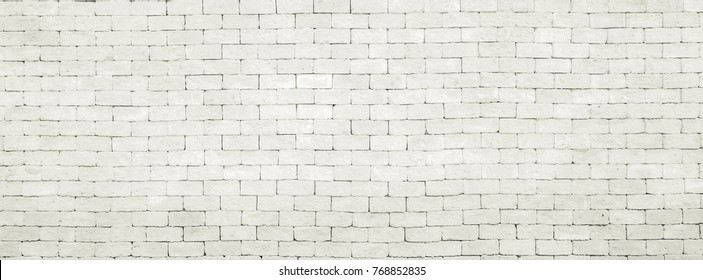 Abstract White Brick Wall Pattern ,  dimention ratio for facebook cover ready used as background for add text or graphic