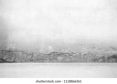 Abstract White Concrete Room Background.