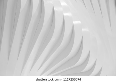 Abstract white geometric rhythm shape of modern architecture background