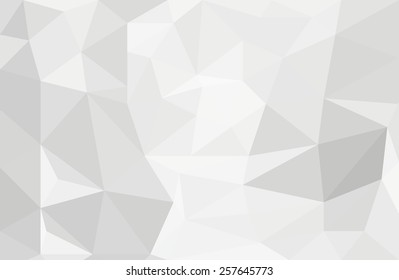 Abstract White and Grey Low Poly Background