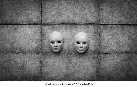 abstract white masks for halloween