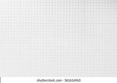 Abstract White Mosaic Tiles Background And Texture
