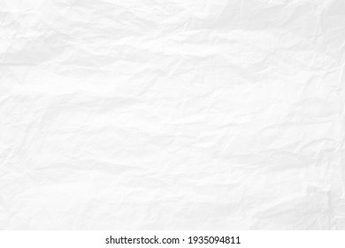 Abstract white paper wrinkled or crumpled texture background , top view , flat lay.