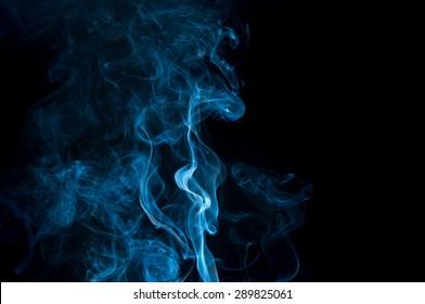 abstract white smoke on white background, smoke background ,blue smoke background