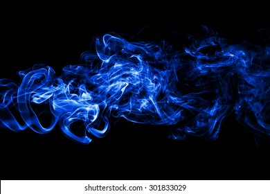 abstract white smoke on black background, smoke background ,blue smoke background, blue ink