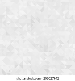 Abstract white triangle background