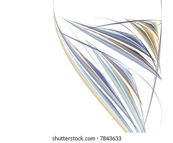 Abstract Wine Glass Against a White Background