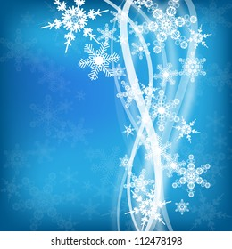 abstract winter background with snowflakes for design
