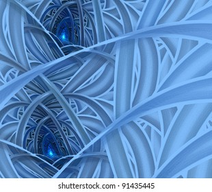 abstract winter blue background on white background