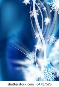 an abstract winter design / illustration for background