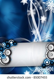 an abstract winter event / party design