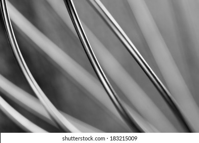 Abstract wire background, monochrome steel back
